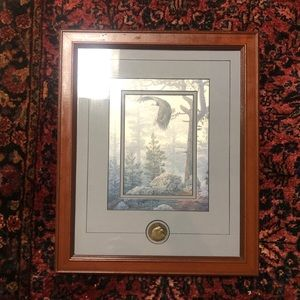 Religious Eagle Print with matted frame